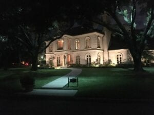house with outdoor lighting