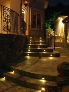 Lights inside steps