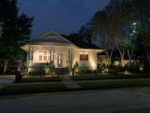 residential project of outdoor lighting on home