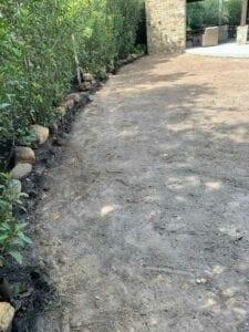 Backyard ground preparing