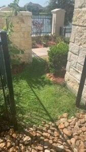 grass walkway before putting down turf