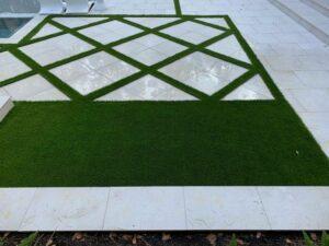 turf with beautiful tiles