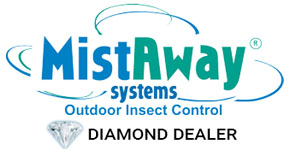 mist away systems outdoor insect control diamond dealer logo