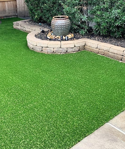 synthetic turf in residential setting